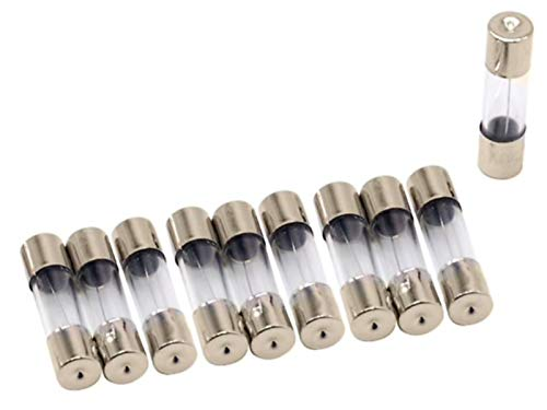 10x Feinsicherung Glassicherung | Keramiksicherung Flink 5x20 / 6x30 mm 0,1A-30A 250V (5x20mm (Glas), 2,5A)