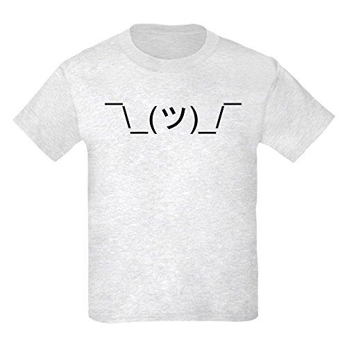 CafePress T-Shirt LOL IDK Emoticon Jugend Kinder Baumwolle T-Shirt Gr. Kinder M, aschgrau