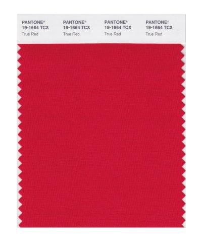 PANTONE Smart 19-1664X Farbmuster-Karte, True Red