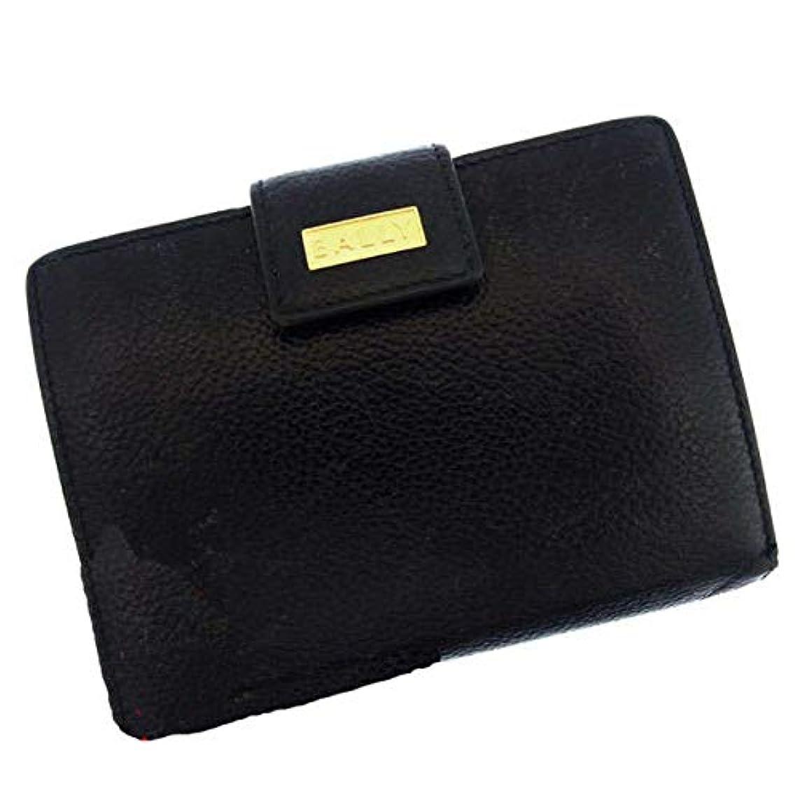 アナニバーわずかな符号(BALLY) バリー 二つ折財布 ロゴ 中古 M628