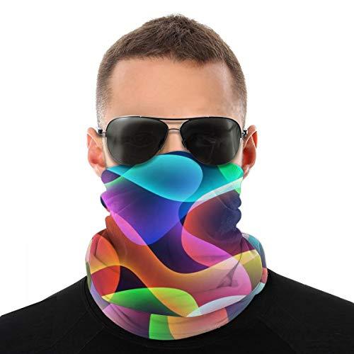 OUYouDeFangA - Diadema unisex con patrón de colores arco iris, multifunción, poliéster, de secado rápido, suave, pañuelo para el cuello, bufanda, pañuelo de viaje, máscara para el cuello, polainas para hombres y mujeres