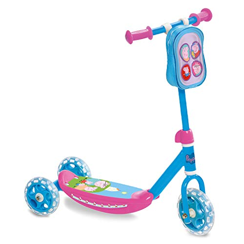 Mondo- First Scooter Patinete 3 Ruedas Peppa Pig,...