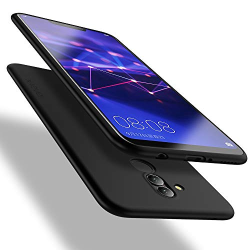 X-level Huawei Mate 20 Lite Hülle, [Guardian Serie] Soft Flex Silikon Premium TPU Echtes Handygefühl Handyhülle Schutzhülle für Huawei Mate 20 Lite Hülle Cover - Schwarz