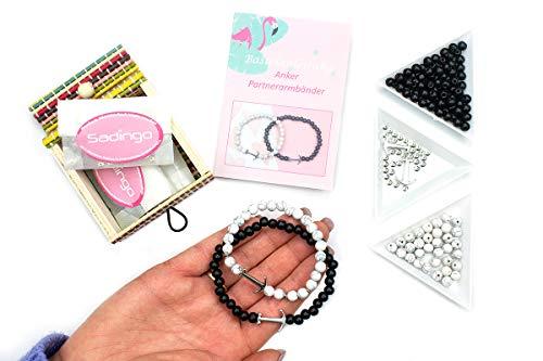 Sadingo Juego de manualidades de joyas, pulseras de la amistad para 2 para hacer uno mismo, pulseras...