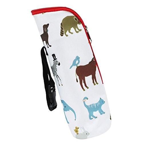 Isoliertasche für Babyflaschen - Baby Flaschen Wärmer oder Kühltasche - Tasche für Muttermilch & Babynahrung - Beige Tiere