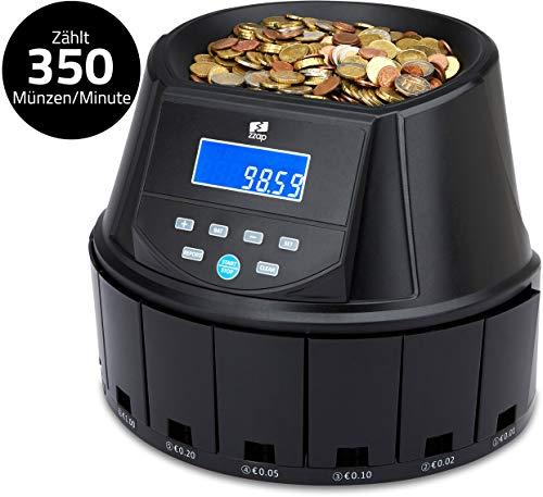 ZZap CS30 - Automatischer EURO Münzzähler & -sortierer - Geldzählmaschine Münzzählautomat Geldzähler