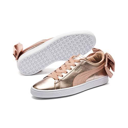 PUMA Basket Bow Luxe Damen Sneaker Dusty Coral-Puma White 4.5