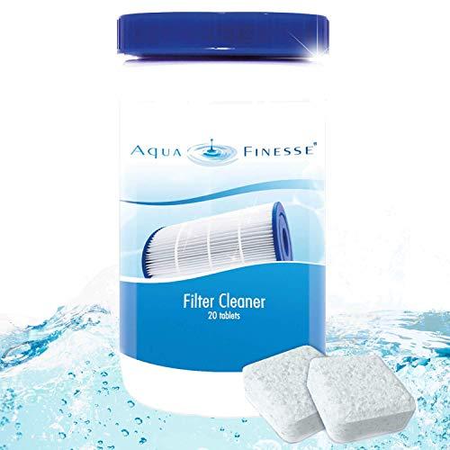 AquaFinesse Filterreiniger Tabs, Filter Reinigungstabletten für Whirlpool, Pool, Swim Spa Filter. Filterkartuschen Reiniger, Spa Kartuschenreiniger, AF Filter Cleaner