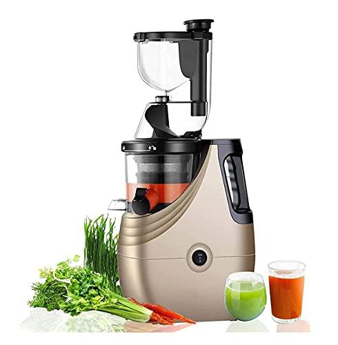SMSOM Juicer Lento Mayores nutrientes y vitaminas, máquina de expresión de Prensa en frío para Frutas y Vegetales, componentes sin BPA, fácil de Limpiar, Ultra eficiente 150W - Champagne