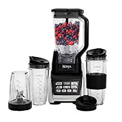 professional Nutri Ninja personal and table mixer with 1200 W Auto-iQ base, 72 ounces of glass and more