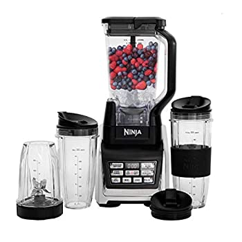 Nutri Ninja BL642 Personal and Countertop Blender with 1200-Watt Auto-iQ Base 72-Ounce Pitcher and 18 24 and 32-Ounce Cups with Spout Lids