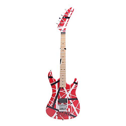 KEPOHK Guitarra eléctrica más vendida 6 cuerdas mano derecha HColor rojo Rojo