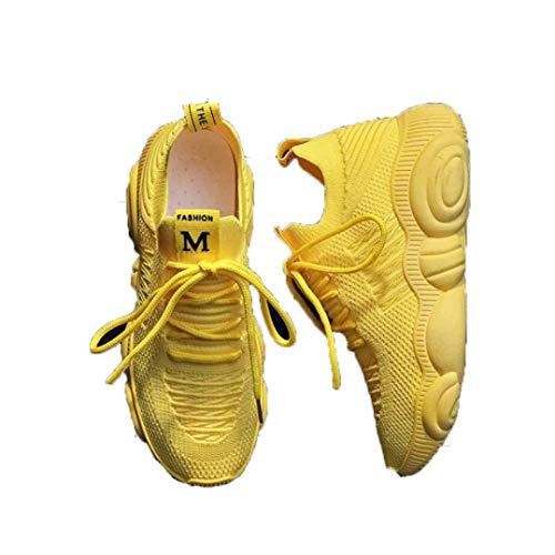 Dames Mesh Trainers Mode Ademend Platform Sokschoenen Lichtgewicht Running Fitness Gym Flats Casual Wedge Basket Sneakers