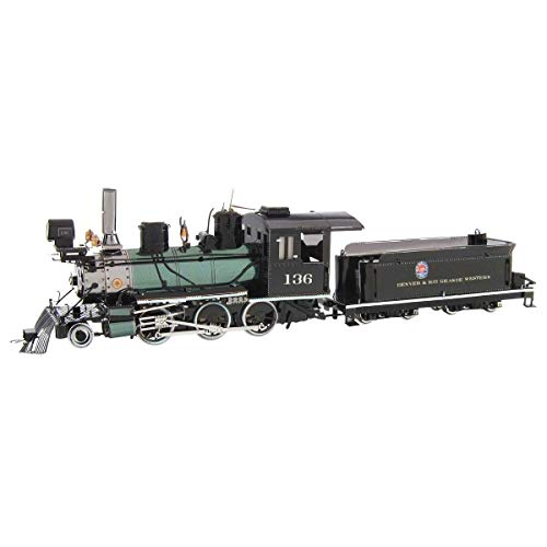 Metal Earth Fascinations, Wild West 2-6-0 Locomotive Rompecabezas de Metal 3D, Corte láser en Miniatura