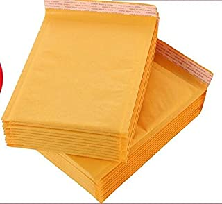Muchen 4x8 inchs Yellow Kraft Bubble Mailers Self Seal Padded Envelopes,Pack of 25