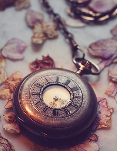 Notebook: Clock old historically wind up horology antique time pendulum clock frequency...