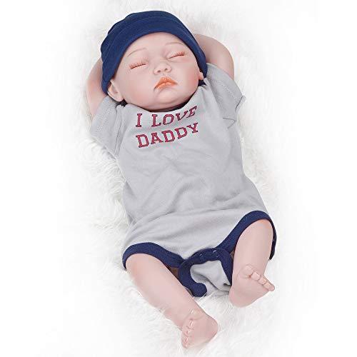 Morran Reborn Realista Suave Silicona Vinilo Muñeca Bebé Recién Nacido Albornoz Chaqueta para Niños Mayores De 3 Años Juguete 52cm (Rosa)