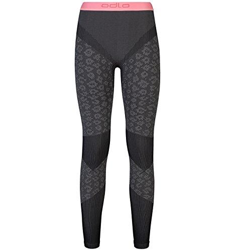 Odlo Damen Blackcomb Evolution Warm Pants Thermo Underwear, Concrete Grey-Black-Fleur De Lotus, L