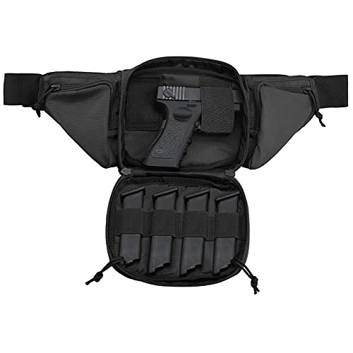 Concealed Carry Fanny Pack for Pistol,Tactical Carry Pistol Bag Gun Carry Concealment Holster Fits 1911