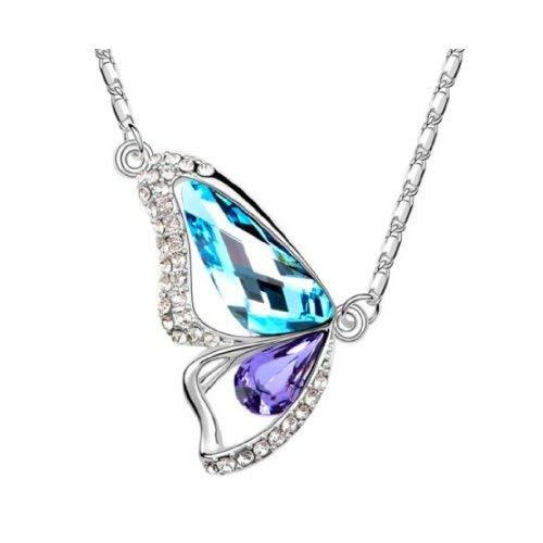 OUTLETISSIMO® Collar con colgante de mariposa Swarovski cristales austriacos Swarovski Elements