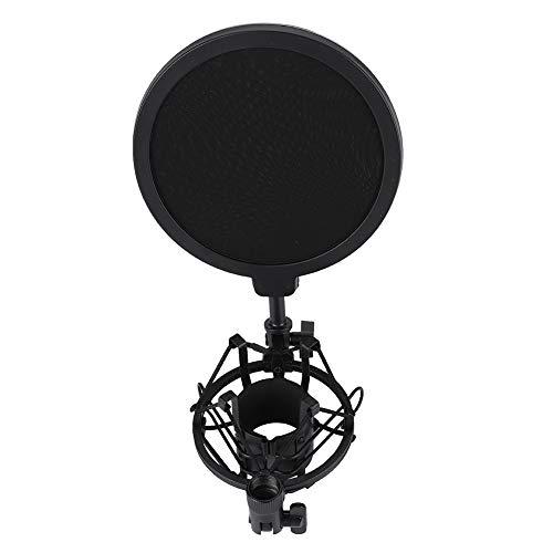 Vbestlife Condenser Microfoon met Microphone Shock Mount Houder met goede hartvormige voor Broadcasting, Opnemen.