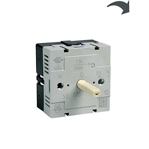Kochplattenschalter Energieregler Einkreis Kochfeld Herd Original Electrolux AEG 3890824018 EGO 50.77071.000 T125 rechtsdrehend aufsteigend stufenlose Regulierung ee ep ekc uvm