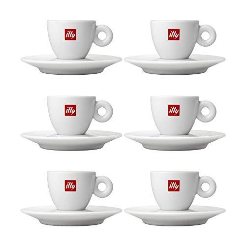 N/D Set 6 tazzine Caffe' Illy in Porcellana con piattino