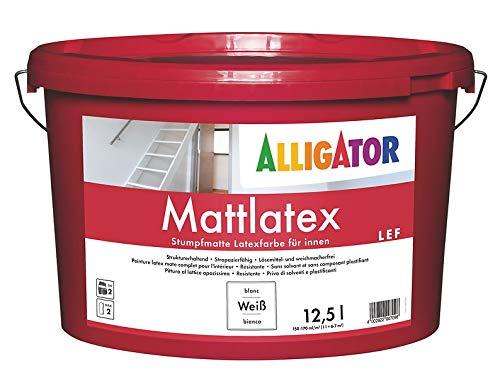 Alligator Mattlatex LEF - weiß, 12,5 Liter