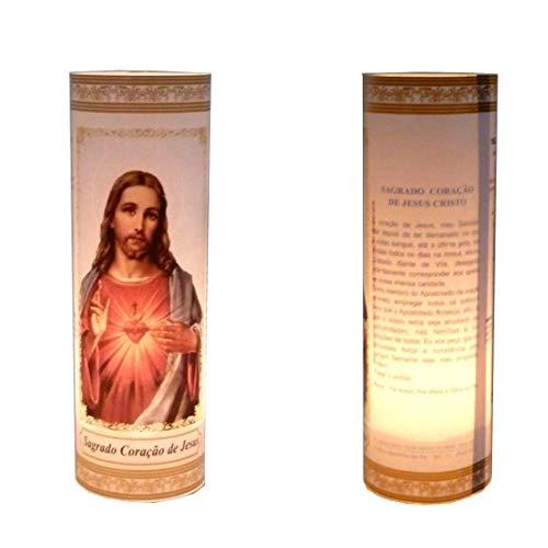 3 Velas Votivas 7 Dias Sagrado Coração De Jesus Oração