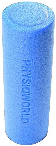 PhysioWorld - Rodillo de Espuma para Terapia de Masaje Muscular, Fitness, Pilates, Yoga, color Azul, 45x15cm