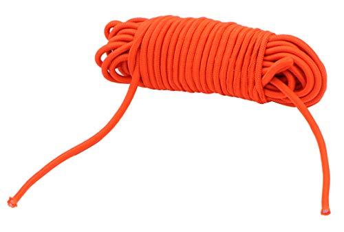 METER STAR 3/16' x25 Feet Orange Elastic Cord Elastic Nylon Cords Kayak Deck Stretch String Rope & Tie Down Trailer Strap,Gravity Chair, Marine Grade