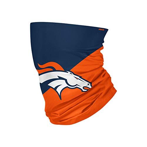 NFL Denver Broncos Unisex Face Mask Gaiter Big Logo, Team Colors, One Size