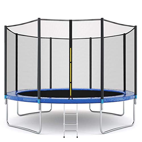12FT Trampoline for Kids and Adults, Indoor & Outdoor Bounce Fitness Trampoline w/ Enclosure Net Jumping Mat and Spring Cover Padding, Max 600 LBS Weight Capacity【US Fast Shipment】 (12FT)