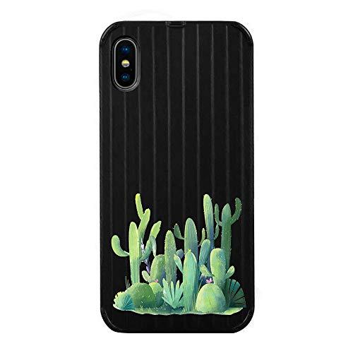 Fantasydao Schutzhülle für iPhone 7 Plus/8 Plus, mit niedlichem Streifen-Muster, gehärtetes Glas,...