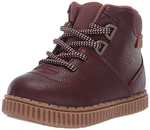 OshKosh B'Gosh Boys' Haskell Ankle Boot, Dark red, 5 M US Toddler