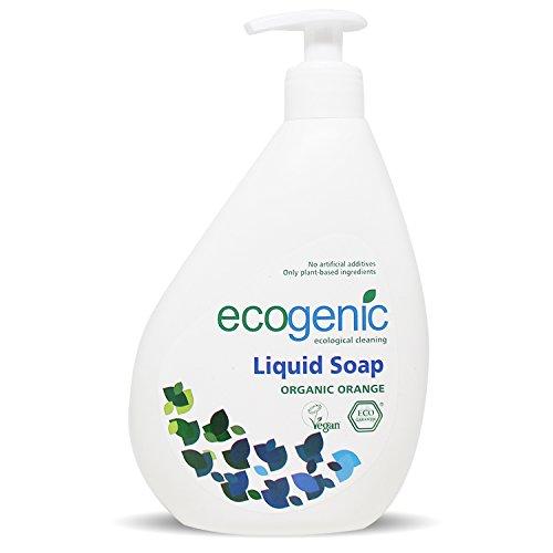 Ecogenic Flüssige Handseife, Bio Orange, 500 ml, Vollständig biologisch abbaubar (1 x 500ml)