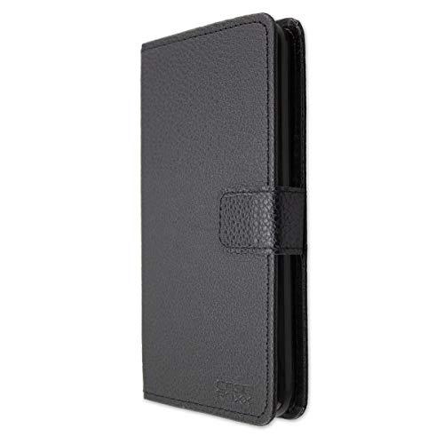 caseroxx Handy Hülle Tasche kompatibel mit Archos Core 55S Bookstyle-Hülle Wallet Hülle in schwarz