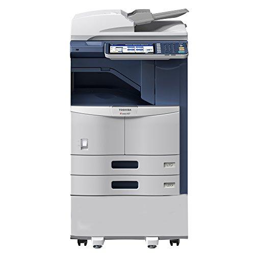 Fantastic Deal! Toshiba E-Studio 307 Tabloid-Size Black and White Laser Multifunction Copier – 11×17, 30ppm, Copy, Print, Color Scan, Network, Duplex, USB, 2 Trays, Cabinet