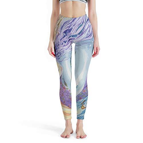 Lind88 Mode Womens Leggings, Moon&Sun Patroon Print Capris Hoge Taille Print Leggings -Secret Leggings voor Meisjes Kinderplaats