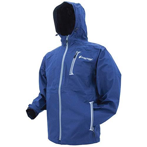 FROGG TOGGS Men's Rockslide Waterproof Rain Jacket, Navy, Large