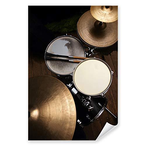 Postereck - 0127 - Schlagzeug, Musik Rock Pop Drums Instrument - Wandposter Fotoposter Bilder Wandbild Wandbilder - Poster - 4:3-81,0 cm x 61,0 cm