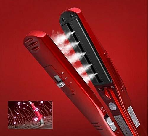 KeMei - Alisador de pelo de vapor para alisar el cabello