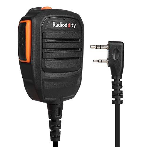 Radioddity RS22 Lautsprecher Tragbar Mikrofon für Radioddity GD-77 DM-5R DMR Funkgerät Transceiver, UV5RTP GT-3TP GT-5TP BF-F8HP UV-82HP UV8000E