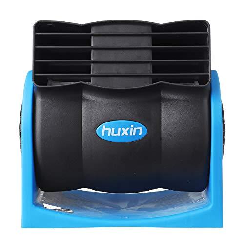 XAOBNIU 12V 24V 7W Ajustable Universal Coche Ventilador de refrigeración de Aire eléctrico refrigerador del radiador (Color : Blue)