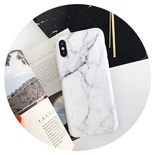 Carcasa de mármol para iPhone 8, 7 Plus y 6 S Plus, carcasa de silicona suave para iPhone 7, funda de color blanco, para iPhone 7