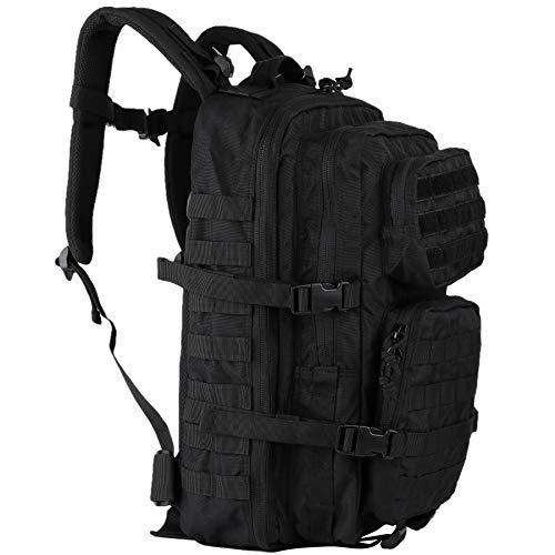 OLEADER Militär Rucksack 45L Taktischer Rucksack Wasserdichter großer Sturmrucksack Molle Rucksäcke für Outdoor-Wandern, Trekking, Camping (Black)