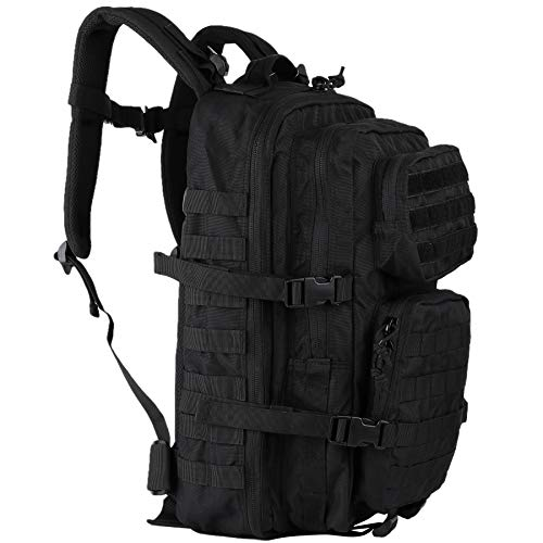 OLEADER Rucksack 40L Military Tactical Backpack Waterproof Large Assault pack Molle Backpacks for Outdoor Hinking,Trekking,Camping (Black)