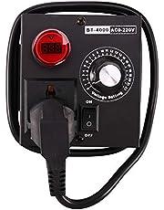 BOINN Ac220V 4000W Scr Elektronische spanningsregelaar temperatuur motor ventilator toerentalregelaar dimmer elektrisch gereedschap instelbaar, EU-stekker
