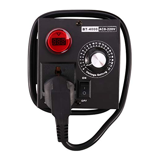 Bopfimer Regulador de voltaje electrónico para motor y ventilador, 220 V, 4000 W, Scr, regulador de velocidad, herramienta eléctrica ajustable, enchufe europeo