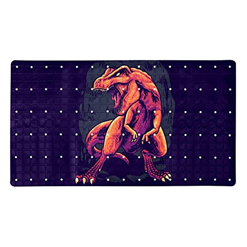 Bath Mat Non-Slip Dinosaur Suction Cups Best Durable and Stylish in Bath Mats Anti-Slip Shower Mat with Modern Design Quality Suction Cups 15.7x27.9 in